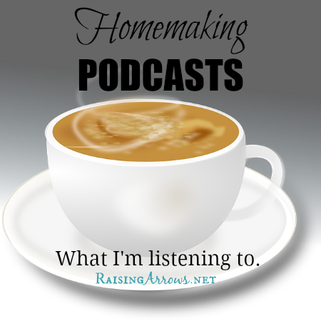Need encouragement?  Need motivation?  Need a fresh perspective?  Here are some great FREE podcasts and mp3 downloads just for the homemaker! | RaisingArrows.net