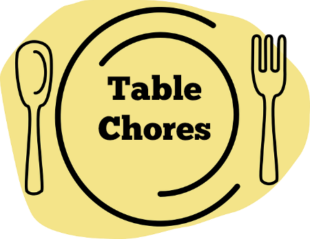 Table Chores {our newest version since the move and new baby} | RaisingArrows.net