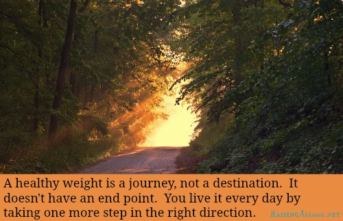 Learn to see weight loss (especially postpartum weight loss) as a journey | RaisingArrows.net