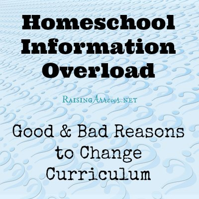 There is no perfect curriculum.  It's time to stop reinventing the wheel and learn how to discern good and bad reasons for wanting to change our homeschool curriculum. | RaisingArrows.net