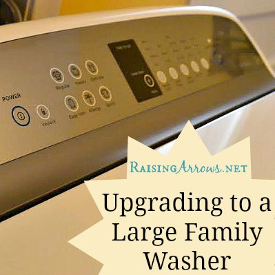 Having the right tools for the job is such a blessing!  I love this washer and the work it can do! | RaisingArrows.net