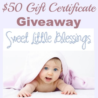 $50 Sweet Little Blessings Giveaway - get FREE Cloth Diapers!