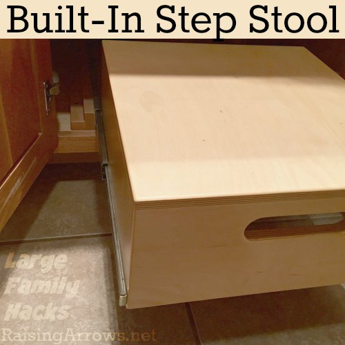 Built-In Step Stool Large Family Hacks | RaisingArrows.net  sc 1 st  Raising Arrows & Large Family Hacks - Built In Step Stool - Raising Arrows islam-shia.org