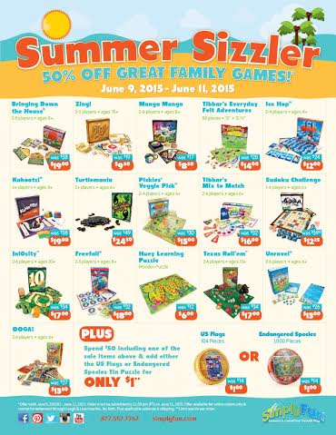 Summer Games on 50% off Sale