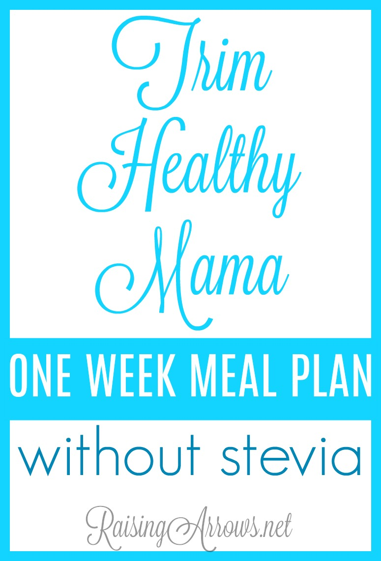 Can you do Trim Healthy Mama without using stevia? Yes, you can! Use this sample menu to plan out your Trim Healthy Mama meals.