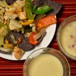 Chicken Fajita Nachos with E Cheese Sauce | RaisingArrows.net