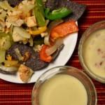 Chicken Fajita Nachos with E Cheese Sauce | RaisingArrows.net