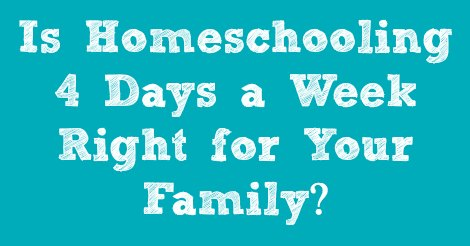 There are a lot of reasons why you might want to homeschool only 4 days a week. In this video and post, Amy of RaisingArrows.net addresses those reason and more!