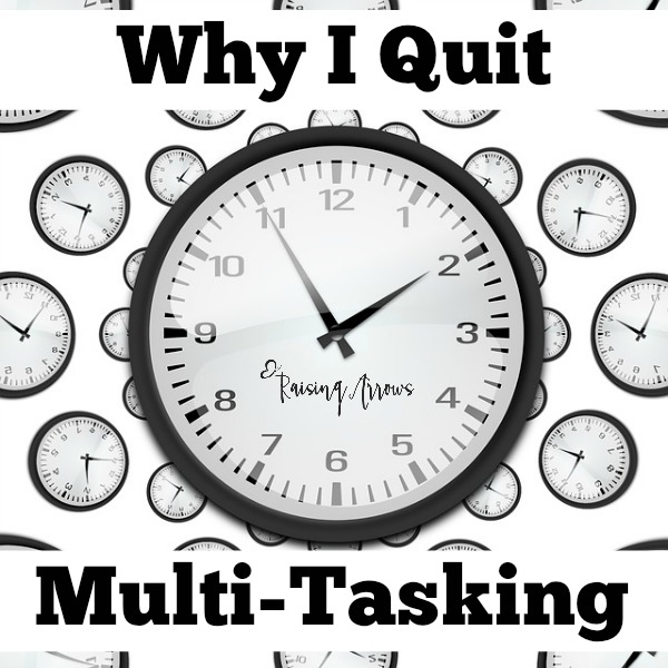 Juggling too many things?  Always feeling behind?  Not doing anything well?  Those reasons and more are why I quit multi-tasking.  Read more >>