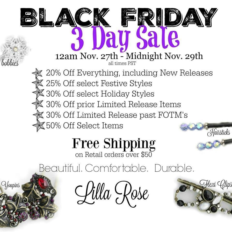 Lilla Rose Black Friday 2015 Sale!