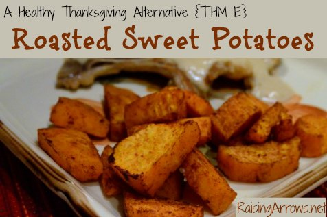 Not all sweet potatoes this Thanksgiving have to be drenched in sugar or marshmallows - these will make your mouth sing and your waistline shrink! {THM E} | RaisingArrows.net