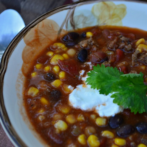 Taco Soup recipe - large enough for a crowd or large family gathering! | RaisingArrows.net
