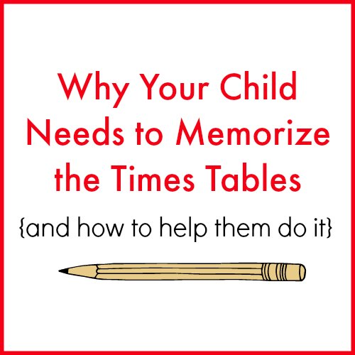 Why I Require Memorization of Times Tables - Raising Arrows