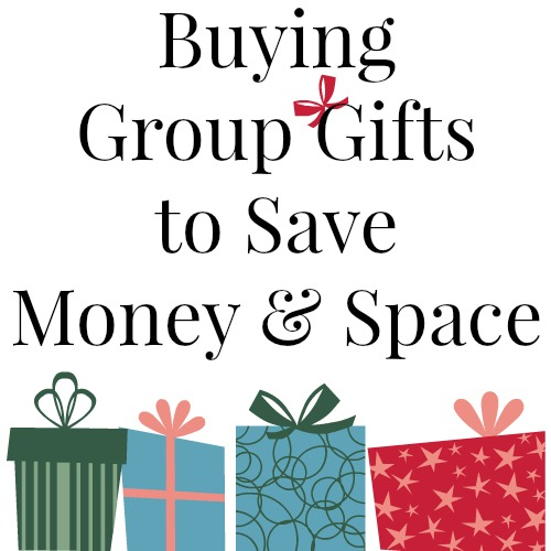 A little thinking outside the box and I bet you can come up with some great group gifts that will save you money and space this Christmas! | RaisingArrows.net