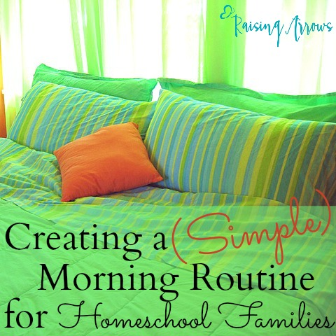 A Simple Morning Chore Routine for Homeschool Families