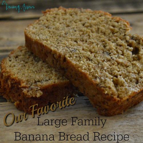 Large Family Banana Bread Recipe