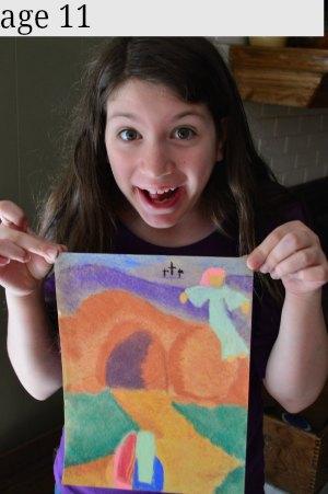 11 year old chalk art
