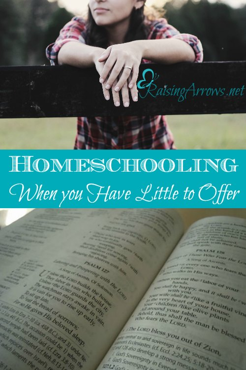 Are you afraid you don't have what it takes to homeschool? Are your hands empty when it comes to homeschooling? Read this.