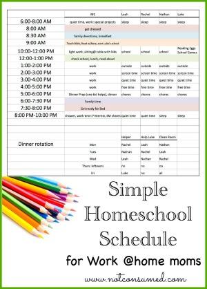 16 Schedules for Homeschool Moms