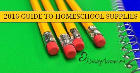 2016 Guide to Buying Homeschool Supplies