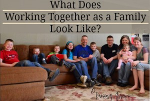 What Does Working Together as a Family Look Like? | RaisingArrows.net