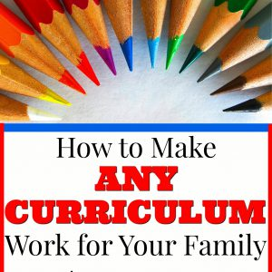 How to Make Any Curriculum Work for Your Family ebooklet!