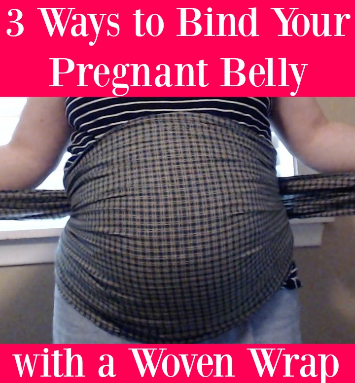 Video on 3 Different Methods to Bind Your Pregnant Belly with a Woven Wrap!