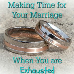 Raising a family is hard, but there has to be a way to make time for your spouse when you are exhausted! This post answers that question...and not in the way you are expecting!