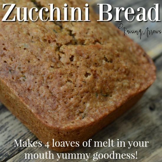Large Family Zucchini Bread Recipe
