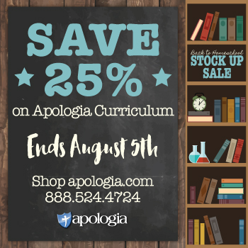 Apologia Back to School Sale!
