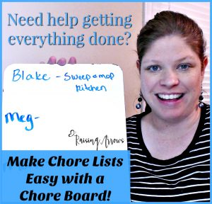 How to Make Chores Easy with a Chore Board! Works great for families with only small children, homeschooling families, large families, or busy moms for whatever reason!