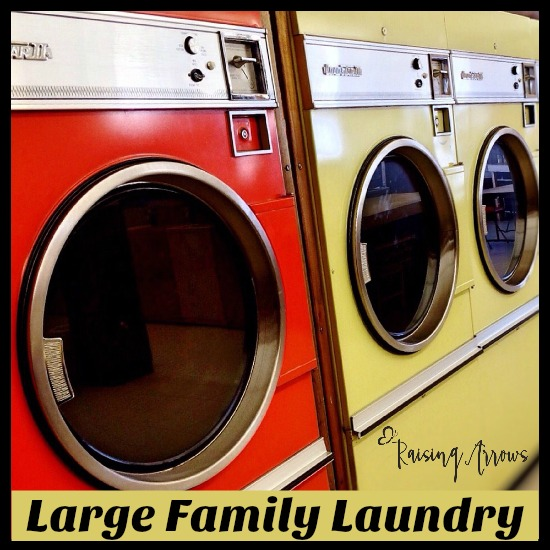 Large family laundry days raising arrows for Large family laundry