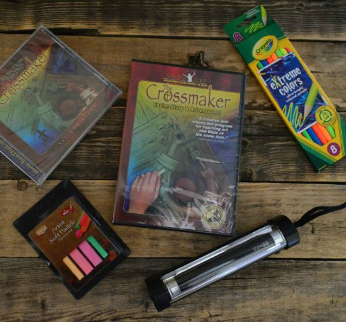 Win The Crossmaker art lesson, music, and story set from See the Light Art!