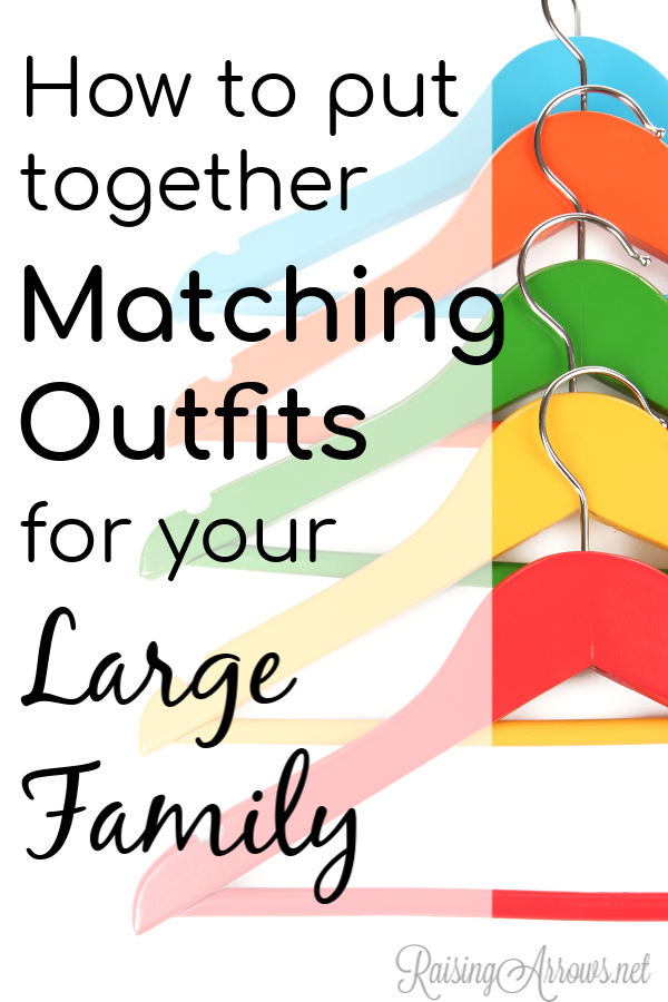 Matching outfits are often a must for large families who need to easily locate all the kids in a crowd.  Learn from this mom of 10 how she did it!