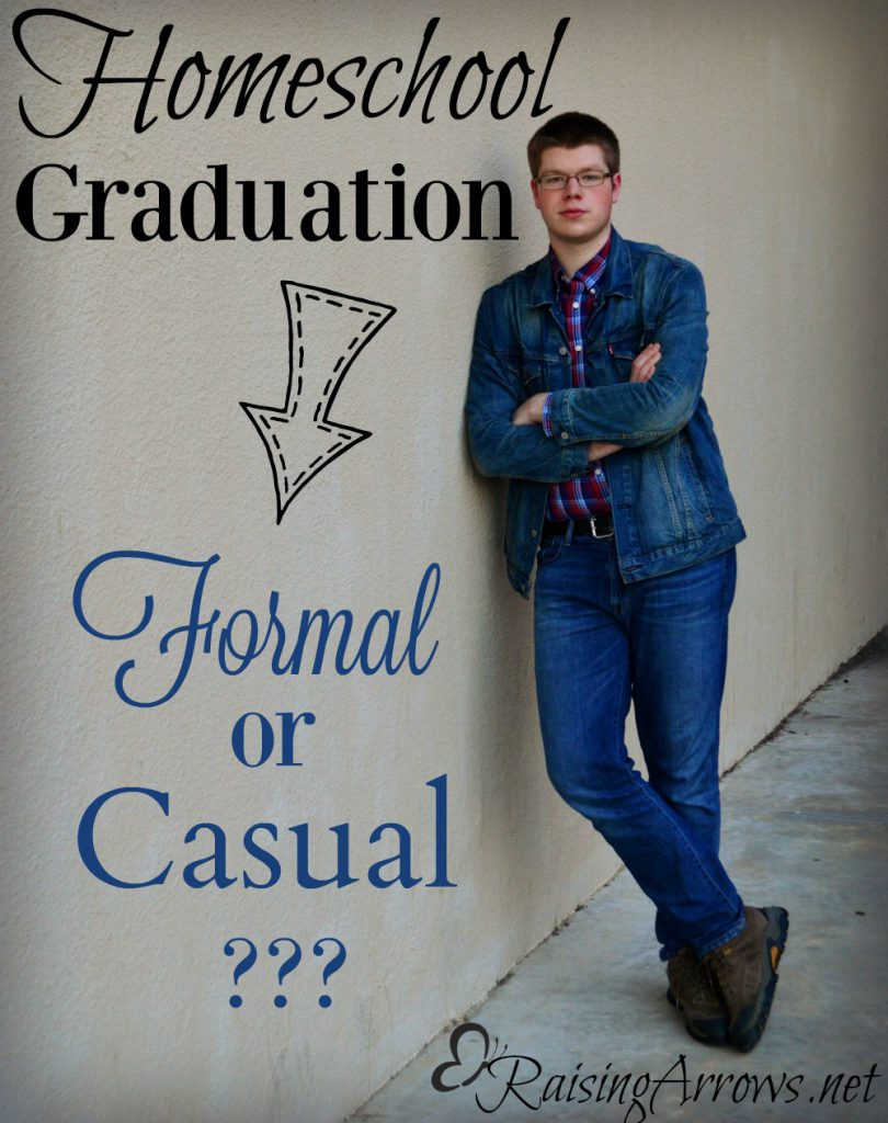 Should you do a formal homeschool graduation or keep it casual? This post gives you the reasons why for both so you can choose what works best for your family without feeling guilty!