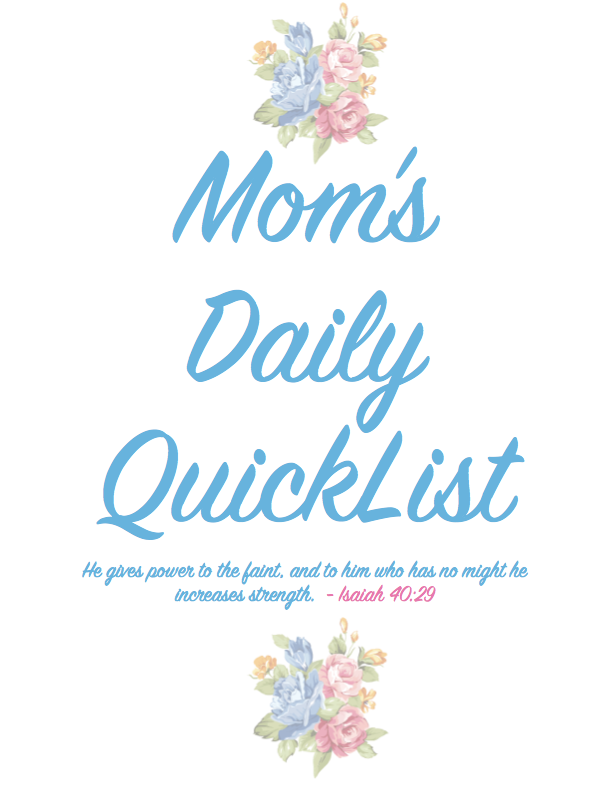 FREE Mom's Daily QuickList