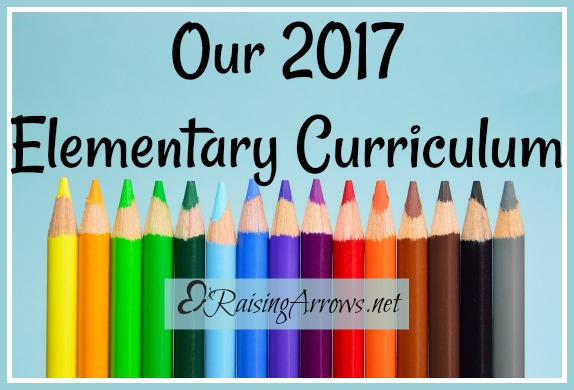 Our 2017 Elementary Curriculum Choices