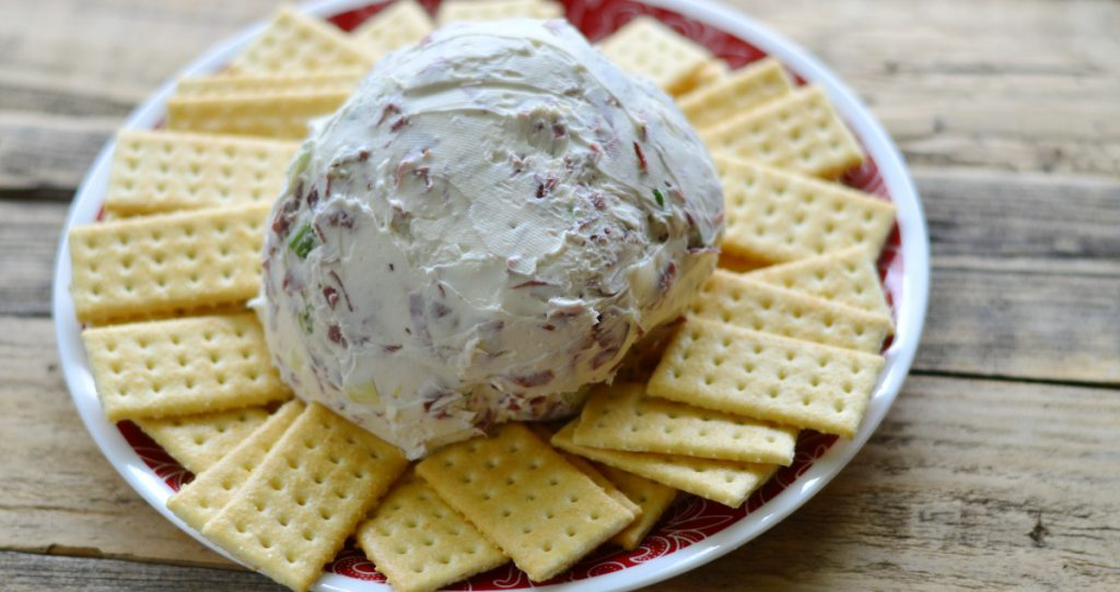 This is the easiest cheese ball ever!  Keep the ingredients on hand, and you have a quick crowd pleaser every time!