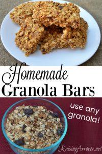 Our Favorite Homemade Granola Bars
