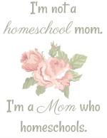 "FREE ""I'm not a homeschool mom"" print"