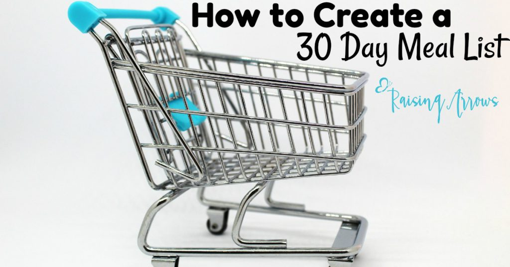 How to Create a 30 Day Master Meal Plan