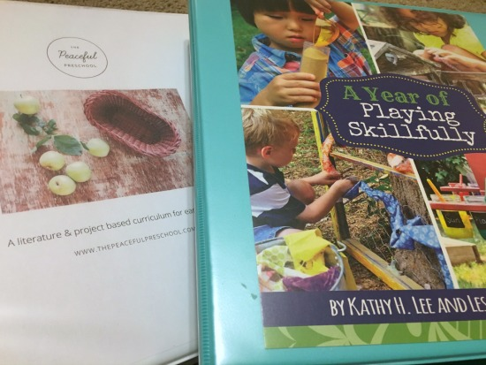 Preschool Curriculum that takes a natural approach - Peaceful Preschool and A Year of Playing Skillfully - here's how I plan using these resources