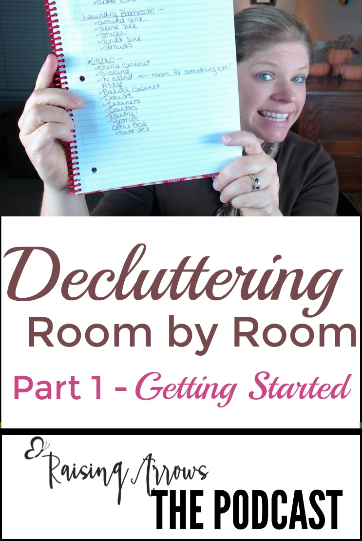 A no nonsense approach to decluttering that doesn't take a lot of setup and won't bog you down! Listen to the podcast and get started!