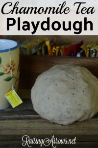 Make your child's playtime soothing and fun with this chamomile tea playdough! (you can use any herbal tea in fact!)