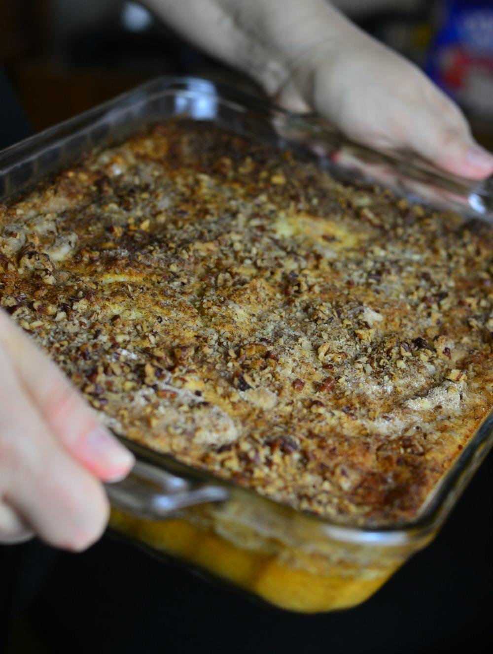 Pumpkin Crumble Cake - simple crowd pleasing recipe