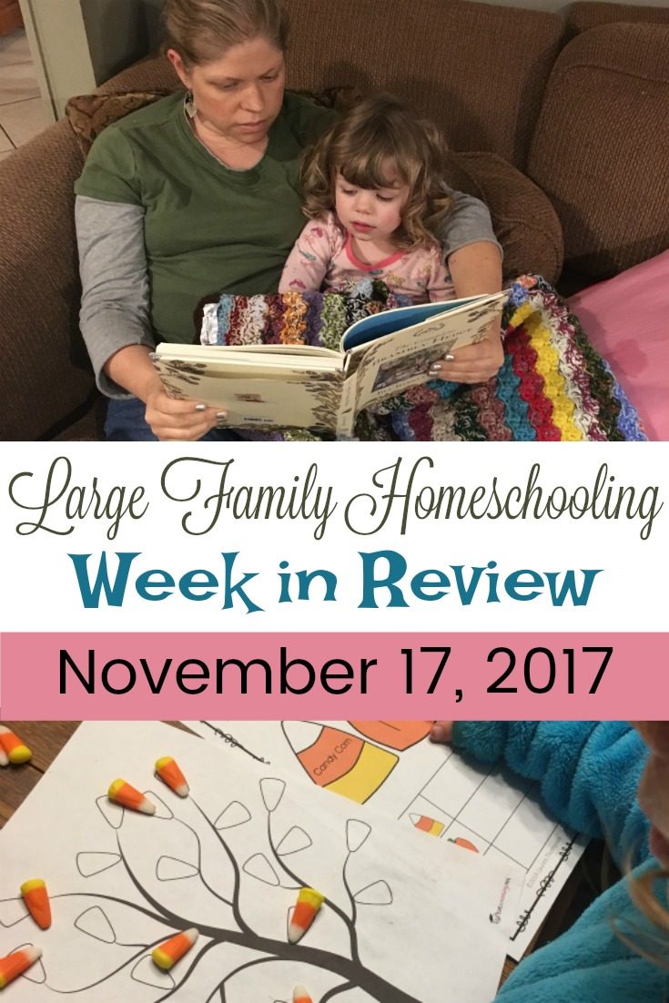Tapestry of Grace, Read Alouds, and Thanksgiving fun in this week in review of our Large Family Homeschool!