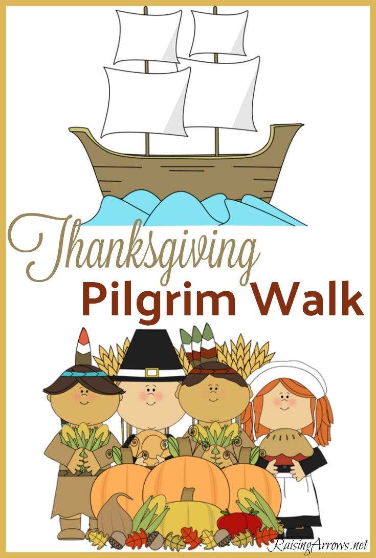 Thanksgiving Pilgrim Walk Activity for Kids