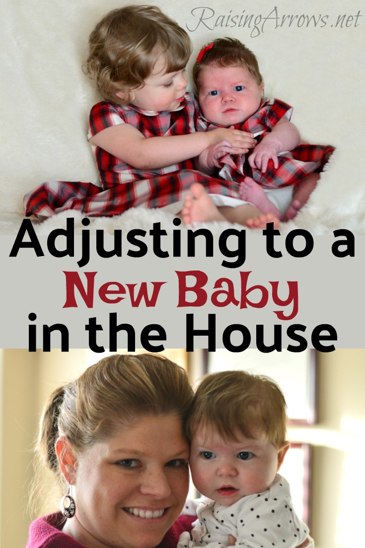 Tips on how to adjust to a new baby in the house from a mom of 10!