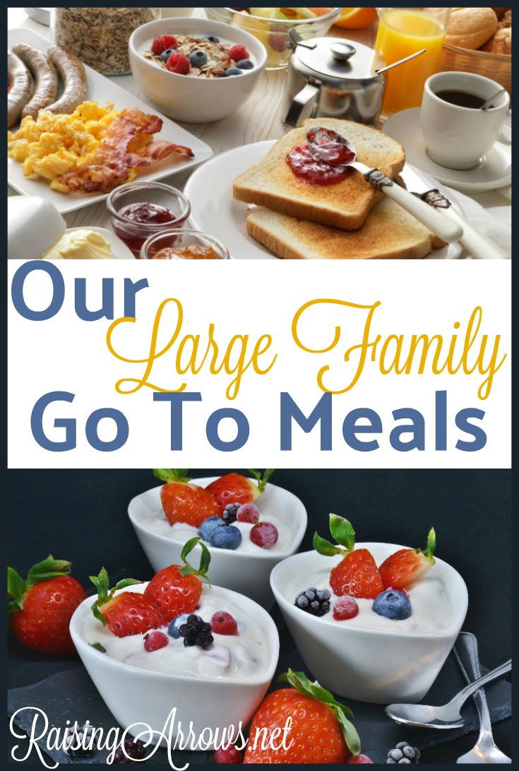 Our Large Family Go To Meals