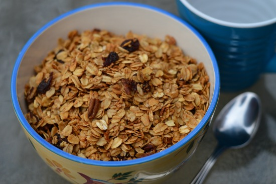 If you are looking for a simple granola recipe that makes great crunchy cereal and fantastic homemade granola bars, this is it!